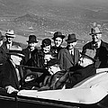 President Franklin D. Roosevelt In Car by Everett