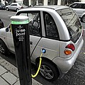 Recharging An Electric Car by Martin Bond