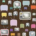 retro TV pattern  by Setsiri Silapasuwanchai