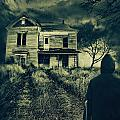 Scary Abandoned House On Hill by Sandra Cunningham