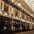 Sepia Toned Image Of Leadenhall Market London by David Pyatt