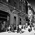 Shoppers And Tourists On Princes Street Edinburgh Scotland Uk United Kingdom by Joe Fox