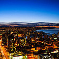 Sunset Over A City Nice Illuminated by U Schade