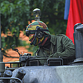 Tank Commander Of A Leopard 1a5 Mbt by Luc De Jaeger