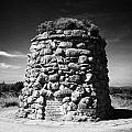 the memorial cairn on Culloden moor battlefield site highlands scotland by Joe Fox