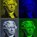 Thomas Jefferson In Quad Colors by Rob Hans