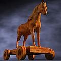 Trojan Horse, Computer Artwork by Christian Darkin