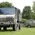 Unimog Truck Of The Belgian Army by Luc De Jaeger
