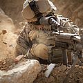 U.s. Army Ranger In Afghanistan Combat by Tom Weber