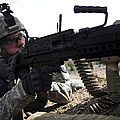 U.s. Army Soldier Provides Security by Stocktrek Images