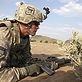 U.s Army Specialist Provides Security by Stocktrek Images
