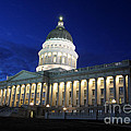 Utah Capitol Building At Twilight by Gary Whitton