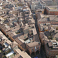 View Of Bologna From The Torre Degli by Gina Martin