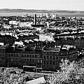 View Of Edinburgh New Town Skyline Towards The Docks At Leith And Firth Of Forth From Calton Hill Ed by Joe Fox