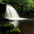 West Burton Falls In Wensleydale by Louise Heusinkveld