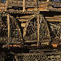 Wooden Lobster Traps by John Greim