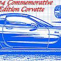 2004 Commemorative Edition Corvette Blueprint by K Scott Teeters