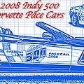 2008 Indy 500 Corvette Pace Car Blueprint by K Scott Teeters