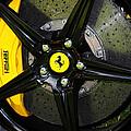 2012 Ferrari 458 Spider Brake Pad Yellow by Paul Ward