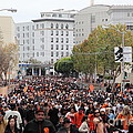 2012 San Francisco Giants World Series Champions Parade Crowd - Dpp0001 by Wingsdomain Art and Photography