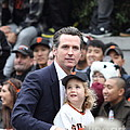 2012 San Francisco Giants World Series Champions Parade - Gavin Newsom - Dpp0005 by Wingsdomain Art and Photography