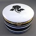 215 Hinged Box Black Rose by Wilma Manhardt