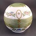 244 Truffle Box Raised Paste Gold Enamel by Wilma Manhardt