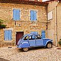 2cv Dans Le Bleu Francais St Remy De Provence by Fred J Lord