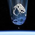 Asteroid Approaching Earth, Artwork by Detlev Van Ravenswaay