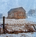 Barn In Winter by Jill Battaglia