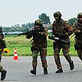 Belgian Paracommandos Entering by Luc De Jaeger