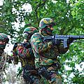 Belgian Paratroopers Proceeding by Luc De Jaeger