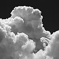 Black And White Sky With Building Storm Clouds Fine Art Print by Keith Webber Jr