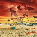 Boat At Sunset by MotHaiBaPhoto Prints
