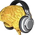Brain With Headphones, Artwork by Pasieka