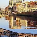 Hapenny Bridge, River Liffey, Dublin by The Irish Image Collection