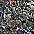 Hdr Image Of A Pilot Sitting by Terry Moore