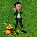 Leprechaun Painting by John Junek