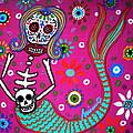 Mermaid Day Of The Dead by Pristine Cartera Turkus