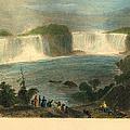 Niagara Falls, 1837 by Granger