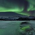 Reflected Aurora Over A Frozen Laksa by Arild Heitmann