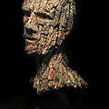 Revered  A Natural Portrait Bust Sculpture By Adam Long by Adam Long