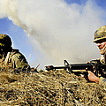 Seabees Defend Their Camp by Stocktrek Images
