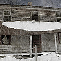Snowy Abandoned Homestead Porch by John Stephens