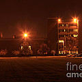 Sodium Vapor Lights On College Campus by Ted Kinsman