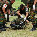 Soldiers Of A Belgian Infantry Unit by Luc De Jaeger