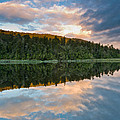 Sunrise Above A Lake On A Wind Still Morning by U Schade