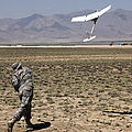 U.s. Army Soldier Launches An Rq-11 by Stocktrek Images