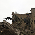 U.s. Army Soldiers Provide Security by Stocktrek Images