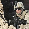 U.s. Marine Provides Security by Stocktrek Images